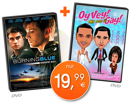 BURNING BLUE + OY VEY! MY SON IS GAY! - Paket (2DVD)